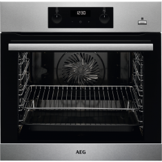 AEG BES355010M Built In Electric Single Oven with added Steam Function - Stainless Steel