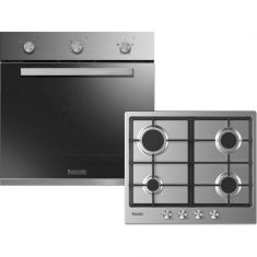 Baumatic BGPK600X Built In Electric Single Oven and Gas Hob Pack - Stainless Steel