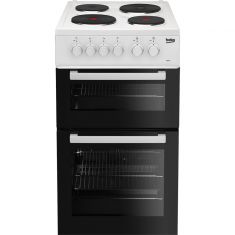 Beko AD531AW 50cm Electric Cooker with Solid Plate Hob - White