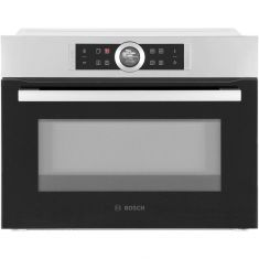 Bosch Serie 8 CMG633BS1B Built In Compact Electric Single Oven with Microwave Function - Brushed Steel