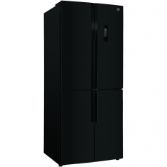 Hoover HFDN180BK Black American Fridge Freezer