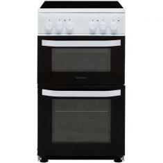 Hotpoint Cloe HD5V92KCW 50cm Electric Cooker with Ceramic Hob - White