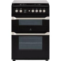 Indesit Advance ID60G2K Gas Cooker - Black