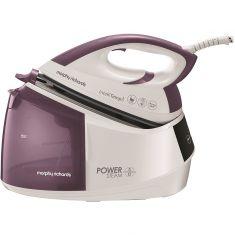 Morphy Richards Power Steam with IntelliTemp 333301 Pressurised Steam Generator Iron - White / Purple