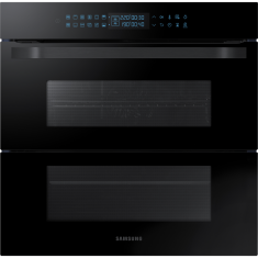 Samsung Prezio Dual Cook Flex NV75R7676RB Built In Electric Single Oven - Black Glass